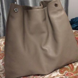 VINCE CAMUTO 'Ruell' Lg. Leather Hobo Fossil Gray